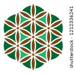 flower of life on a isolated... | Shutterstock .eps vector #1212336241