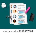 employment recruitment.... | Shutterstock .eps vector #1212337684