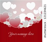 valentine's day background with ... | Shutterstock .eps vector #121234621