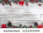 garlands  baubles  snowflakes...   Shutterstock . vector #1212351994