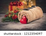 spa composition with christmas... | Shutterstock . vector #1212354097