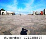 a traveler shadow taking a... | Shutterstock . vector #1212358534