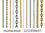 collection of various rope and... | Shutterstock . vector #1212358657