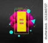 sphere. 3d vector template.... | Shutterstock .eps vector #1212360727