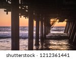 sunset under the santa monica... | Shutterstock . vector #1212361441