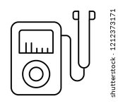 audio player   mp3   earphone   | Shutterstock .eps vector #1212373171