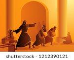 biblical vector illustration... | Shutterstock .eps vector #1212390121