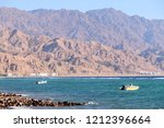 fishing boats on red sea and... | Shutterstock . vector #1212396664