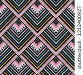 striped embroidery vector... | Shutterstock .eps vector #1212400927