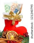 Santa Claus Boot With Euro...