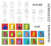 women clothing flat icons in... | Shutterstock .eps vector #1212416614