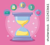 hourglass with economy and... | Shutterstock .eps vector #1212423661