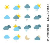 weather icon set | Shutterstock .eps vector #1212424564