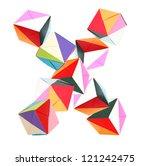 letter x of alphabet origami... | Shutterstock . vector #121242475