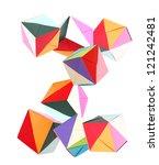 letter z of alphabet origami... | Shutterstock . vector #121242481