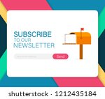 email subscribe  online...   Shutterstock .eps vector #1212435184