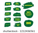 100  organic  bio  eco  natural ... | Shutterstock .eps vector #1212436561
