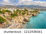 nerja  costa del sol  andalusia ... | Shutterstock . vector #1212438361
