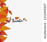 hello november  autumn...   Shutterstock .eps vector #1212445657