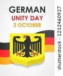 happy german unity day concept... | Shutterstock . vector #1212460927