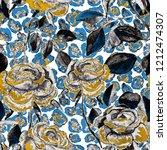 watercolor seamless pattern... | Shutterstock . vector #1212474307