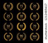 set of anniversary laurel... | Shutterstock .eps vector #1212485617
