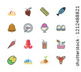 raw icon set. vector set about... | Shutterstock .eps vector #1212488821