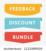feedback ribbon design. color... | Shutterstock .eps vector #1212489034