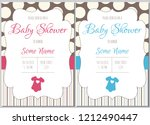 set of baby shower invitation... | Shutterstock .eps vector #1212490447