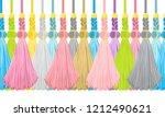 seamless border pattern ... | Shutterstock .eps vector #1212490621