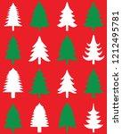 green and white christmas trees ... | Shutterstock .eps vector #1212495781