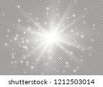 white glowing light explodes on ... | Shutterstock .eps vector #1212503014