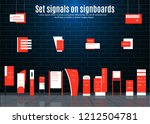 a set of signboards for... | Shutterstock .eps vector #1212504781