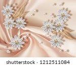 3d wallpaper  jewelry flowers... | Shutterstock . vector #1212511084