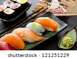 sushi and rolls | Shutterstock . vector #121251229