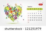 Vector Calendar 2013  March....