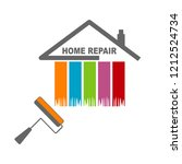 house painting service  decor... | Shutterstock .eps vector #1212524734
