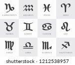 12 zodiac signs capricorn... | Shutterstock .eps vector #1212538957