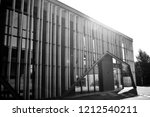 modern office building wall... | Shutterstock . vector #1212540211