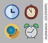 alarm icon set. vector set... | Shutterstock .eps vector #1212543091