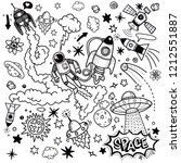 space pattern hand drawing...   Shutterstock .eps vector #1212551887