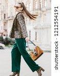 outdoor full body fashion...   Shutterstock . vector #1212554191