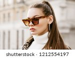 outdoor close up fashion... | Shutterstock . vector #1212554197
