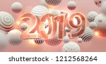 2019 happy new year trendy... | Shutterstock .eps vector #1212568264
