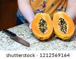 closeup of female  woman hands...   Shutterstock . vector #1212569164