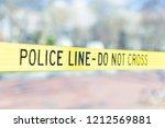 police line do not cross...   Shutterstock . vector #1212569881