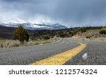 low angle  empty asphalt road... | Shutterstock . vector #1212574324