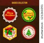 christmas badges. vector | Shutterstock .eps vector #121261051