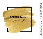 golden brush stroke frame  gold ... | Shutterstock .eps vector #1212618364