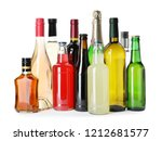 bottles with different... | Shutterstock . vector #1212681577